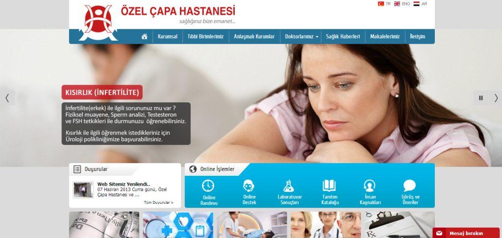 Çapa Hastanesi Yeni Web Sitesi